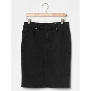 GAP - NWT Black Denim Pencil Skirt